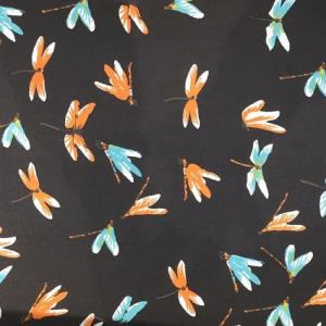 蜻蜓雪纺印花面料