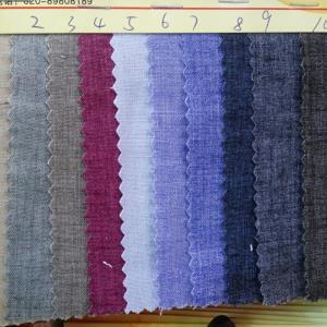 现货供应新丝麻色织麻料双色麻彩棉衬衣料