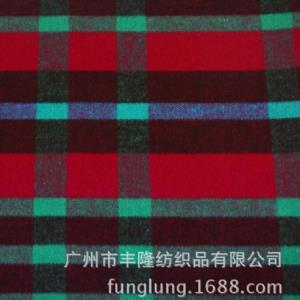 丰隆纺织 双面呢格子呢 双面双色格子呢50%羊毛20%粘胶30%涤纶
