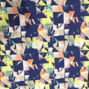几何双绉印花面料