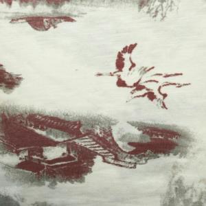 现货94棉6氨纶双色中国风印花*
