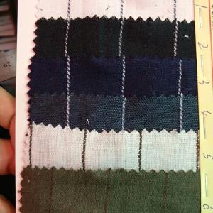 现货供应梭织纯亚麻色织条双面斜纹亚麻色织条衬衣麻料条纹