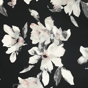 抽象花朵乱麻印花面料