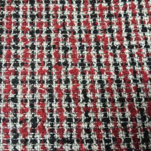 小香风粗纺夹亮丝编织面料