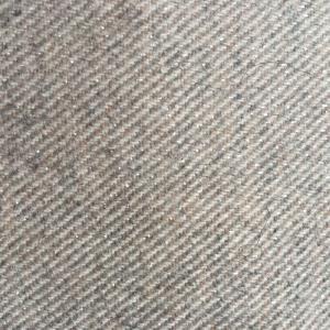 羊毛混色亮丝斜纹法兰绒