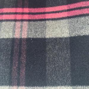 羊毛单面顺毛彩色格子