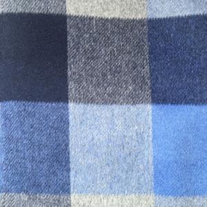 羊毛单面顺毛彩色格子呢