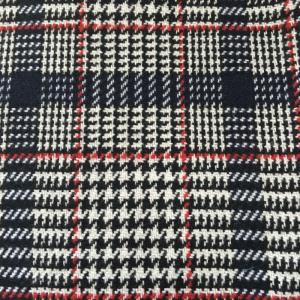 羊毛编织彩色格子呢