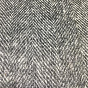 羊毛双面顺毛人字纹