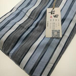 古田棉麻混纺色织条纹休闲料