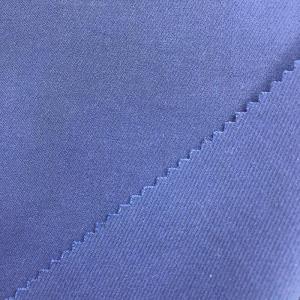 现货精品T/R混纺四面弹缎面斜纹布