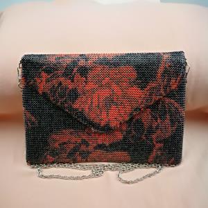 印花铝网挎包