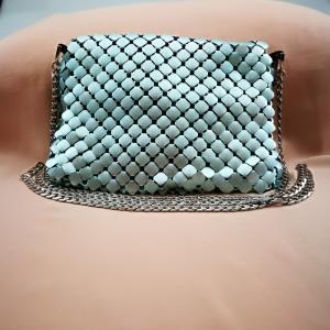 蓝色铝网挎包