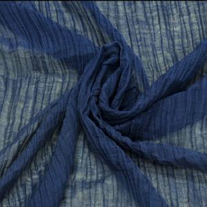 联进夏季质感褶皱麻原色 自然风格 素色面料 纯苎麻皱布纯苎麻布料