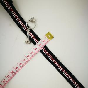 绒印字织带