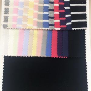 德国舒绒罗纹 条纹色织 家居服童装 休闲打底衣