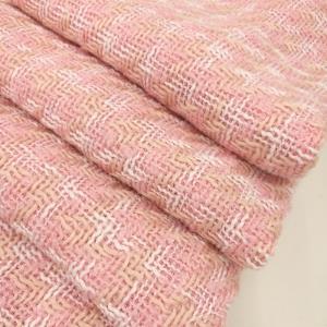 长盛小香风毛织粗纺粗花编织呢