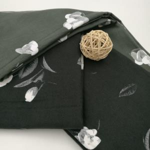 百盛品盛全棉斜纹磨毛花朵印花