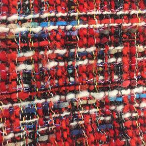 小香风、羊毛粗花呢,羊毛编织呢、红色编织呢