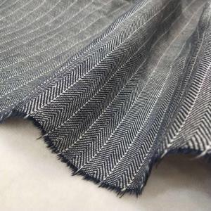 人字纹麻粘色织布