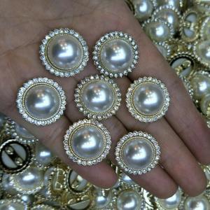 挂金珍珠多钻钮扣