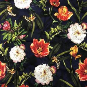 天丝花卉印花