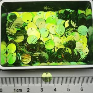 绿色压纹侧孔珠片