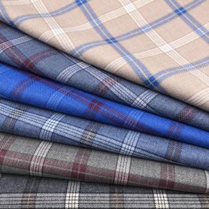 TR涤纶混纺格纹西服夹克面料