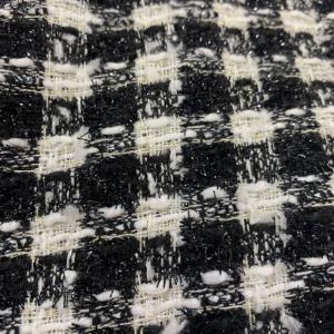 小香风、粗花呢,编织呢、千鸟格呢,黑白格呢