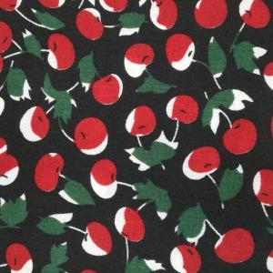 梭织印花  新款  樱桃