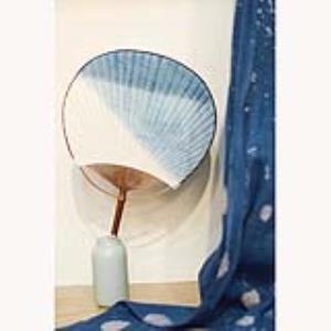 古田 · 拾物 · 蜡染 ·扎染·植物染 · 草木染系列~植物蓝染罗扇 · 纯手工制作 ·非遗文化传承