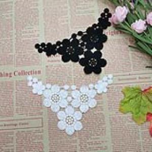 【可免费领取】02037 可爱小领口蕾丝水溶花片家居服