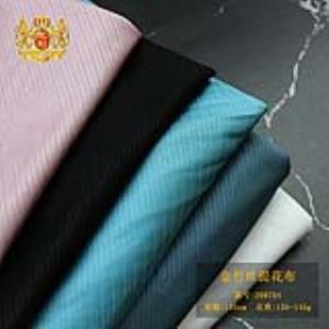 广州永利布行 厂家直销条纹小提花柔顺透气丝光提花布批发