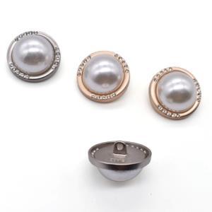 手缝珍珠纽扣大衣扣装饰纽钮扣雾金珍珠力1