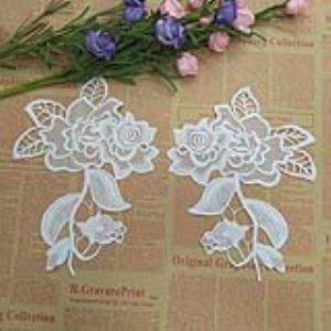 【可免费领取】01033 玫瑰花牡丹花刺绣精品对称花复古花朵
