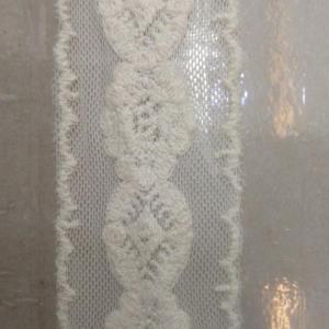 网底水溶条码花边棉线刺绣