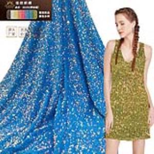 连衣裙舞台服密丝绒亮片面料