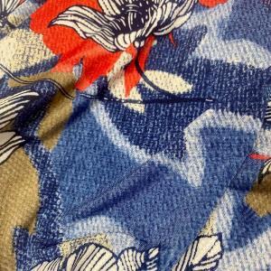 燙膠大花針織印花