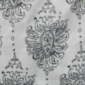 花纹白底棉麻布