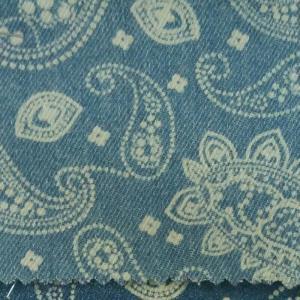 牛仔菱形印花洗水布料