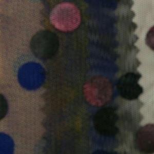 网布烫圆点 波点 时装面料