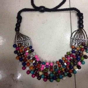 彩色珠衣袊链