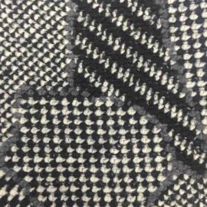 日本进口毛圈绒错乱图案编织面料
