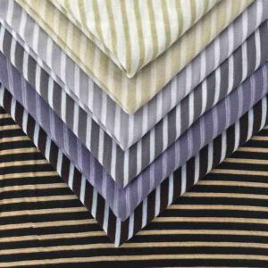 厂家直销条纹新型环保纤维针织面料