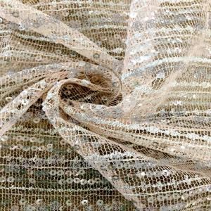 厂家直销时尚珠片亮片网纱绣花面料2016秋季女装时装高级定制面料